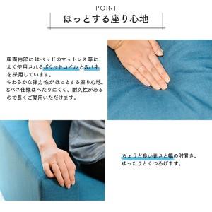 2.5人掛けソファ エグー ブルー 〔送料無料〕