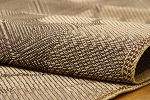 麻混カーペット 『ガレット』 アイボリー 江戸間2畳 174×174cm 正方形 【送料無料】