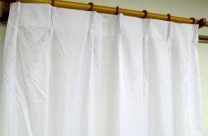 外から見えにくいレースカーテン/目隠し 【1枚のみ 200×223cm】 ホワイト 遮熱 遮像 断熱 UVカット90%以上 『ローレル』 【送料無料】