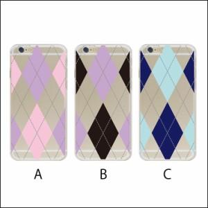 iPhoneX/8/8Plus/7/7Plus/6s/6sPlus/5s/SE Xperia Galaxy ハード ケース スマホ チェック アーガイル ライン 菱形