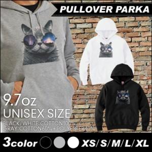 デザイン パーカー ブラック グレー ホワイト スウェット メンズ レディース  プルオーバー 宇宙 柄 猫 キャット おしゃれ