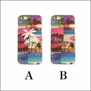 hawaii フォト ビーチ パームツリー 木目 wood 木製 ケース iPhoneX iPhoneX iPhone8 Plus iPhone7 iPhone SE 6s xperiaz5