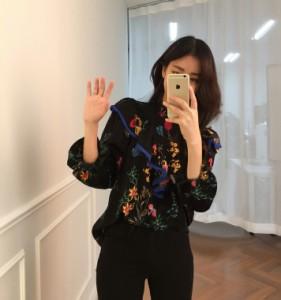 natu-loha「トレンド感満点」刺繍&バルーンスリーブの旬顔シャツ 2018 秋冬春 PTX4906