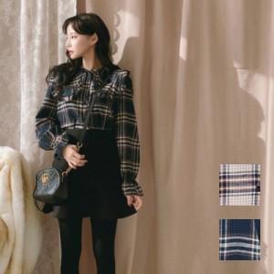 natu-loha「大柄チェックをレディスタイルに」キャンディスリーブトップス 2018 春夏 PTX8303