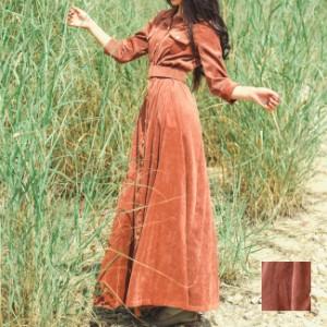 natu-loha 「キレイめなロングワンピース☆」カジュアルで美しいワンピース 2019 秋冬 naloD678