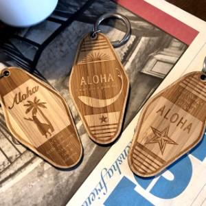 WOOD キータグ 【A】 モーテルキータグ バンブー 国産竹材 文字入れ 彫刻 名入れ プレゼント 木製 キーホルダー 送料無料 名入れ無料
