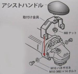 ナニワ(NANIWA) ジスクグラインダー用アシストハンドル 研助くん PJ-0001
