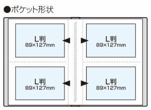 ナカバヤシ ポケットアルバム キャンディカラー L判 120枚 ブルー アカ-CPL-120-B