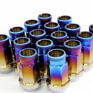 Spiegel レーシング ホイールナット チタン 貫通タイプ M12 P1.5 38mm 16個セット チタンナット ダイハツ ハイゼットトラック spnut-m121
