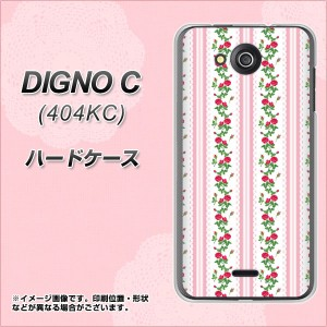 DIGNO C 404KC ハードケース / カバー【745 イングリッシュガーデン(ピンク) 素材クリア】(ディグノ シー 404KC/404KC用)