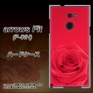 docomo arrows Fit F-01H ハードケース / カバー【395 赤いバラ 素材クリア】(アローズFit F-01H/F01H用)
