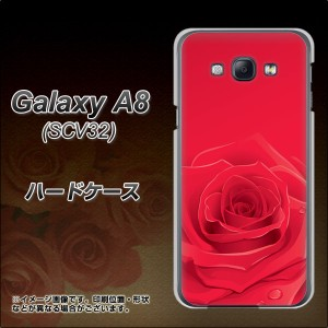 Galaxy A8 SCV32 ハードケース / カバー【395 赤いバラ 素材クリア】(ギャラクシー エーエイト SCV32/SCV32用)