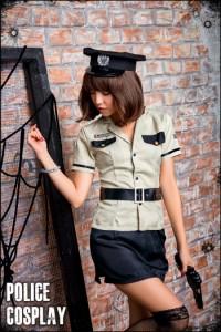 【ハロウィン】コスプレ ポリス コスプレ衣装 セクシー 制服 ミニスカ