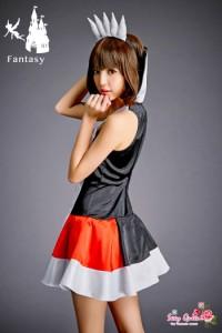 【返品交換不可商品・色移り有り】可愛い コスプレ ハート トランプ 女王 仮装