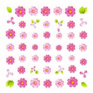 Pieadra ネイルシール フルール ピンク 【ネイルアート/ネイルシール/押し花/ドライフラワー/ネイル用品】