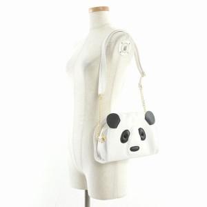 6ccff961a3f5 小銭入れ コインケース 財布 ファッション小物 レディースファッション パンダ フェイス ショルダー Ssver バッグ ファー素材 可愛さ