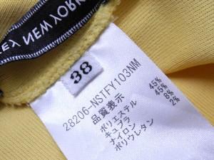 【FOXEY NEW YORK】フォクシーニューヨーク サマーニット イエロー 半袖 38【中古】