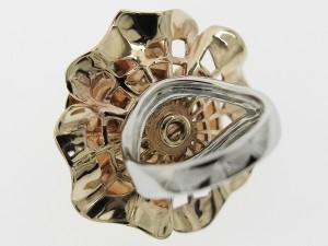 リング ダイヤ 0.27ct K18PG/WG 6号 指輪 フラワー 薔薇 バラ ジュエリー 高級