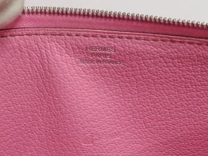 【HERMES】エルメス アザップロング クラシック シェーブル ピンク □M刻印 オールレザー ラウンドファスナー 長財布