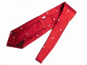 【名東】【GIORGIO ARMANI】ジョルジオ アルマーニ/ネクタイ/ダークな赤に水玉/幅広【中古】