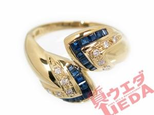 リング サファイア 0.70ct ダイヤ 0.10ct K18 #13 ジュエリー 高級 指輪 サファイヤ