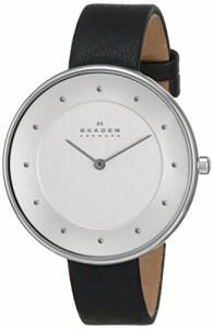 【当店1年保証】スカーゲンSkagen Women's SKW2232 Gitte Stainless Steel Watch with Black Leather B