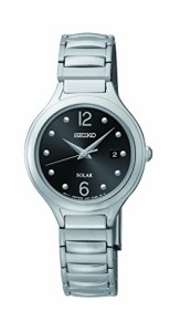 【当店1年保証】セイコーSeiko Women's SUT177 Solar-Power Stainless Steel Watch