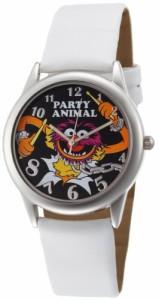 【当店1年保証】ディズニーMuppets Women's MU1008 Animal Black Dial White Strap Watch