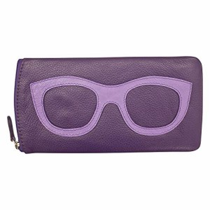 ILIili New York 6462 Leather Eyeglass Case (Planet Purple)