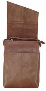 ILILeather Mini Sac Flap Cross-body Handbag,One Size,Toffee
