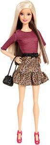 バービーBarbie Fashionista Barbie Doll Leopard Print Skirt