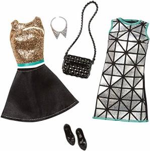 バービーBarbie Fashion 2 Pack Glamour - Gold, Turquoise, & Black