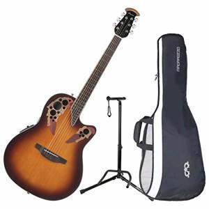 オベーションOvation CE48-1 Celebrity Elite Super Shallow Sunburst Acoustic/Electric Guitar with Gig Bag