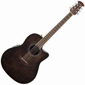 オベーションOvation CS24P-TBBY Acoustic-Electric Guitar - Trans, Black Flame Maple