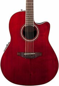 オベーションOvation CS24-RR Celebrity Standard Mid-Depth Ruby Red Acoustic/Electric Guitar with Gig Bag