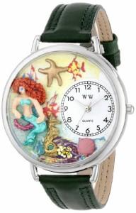 【当店1年保証】気まぐれな腕時計Whimsical Watches Unisex U1210014 Mermaid Hunter Green Leather