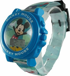 【当店1年保証】ディズニーDisney Boy's Quartz Plastic Casual Watch, Color:Blue (Model: MK1328)