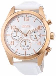 【当店1年保証】ヒューゴボスHugo Boss Rose Gold Leather Chronograph Ladies Watch 1502310