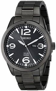 【当店1年保証】セイコーSeiko Men's SNE343 Sport Solar Analog Display Japanese Quartz Black Watch