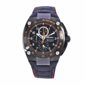 【当店1年保証】セイコーSeiko Men's SNAE37 Diver's Stainless Steel Black Chronograph Dial Watch