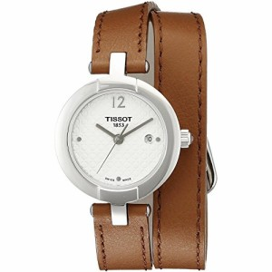 【当店1年保証】ティソTissot Trend Pinky Silver Dial Light Brown Leather Ladies Watch T084210160170