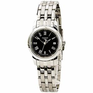 【当店1年保証】ティソTissot T0332101105300 Womens Stainless Steel Case and Bracelet Black Dial Dat