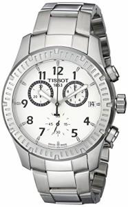 【当店1年保証】ティソTissot Men's T0394171103700 V8 Analog Display Swiss Quartz Silver Watch