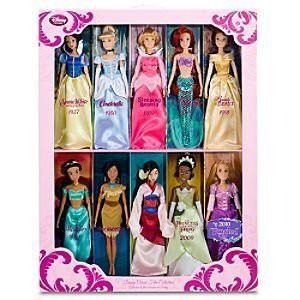 ディズニープリンセスClassic Disney Princess Doll Gift Set - Jasmine, Pocahontas, Rapunzel, Mulan