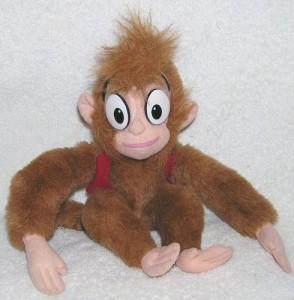 """アラジンDisney Aladdin 10"""" Plush ABU the Monkey Doll"""