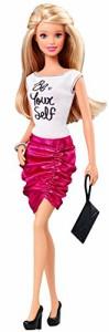 """バービーBarbie Fashionistas Barbie Doll, Pink Skirt and """"Be Yourself"""" Shirt"""