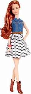 バービーBarbie Fashionista Teresa Doll Jean Shirt and Black and White Skirt