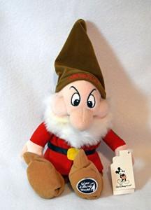 """白雪姫Disney Grumpy From Snow White and the Seven Dwarfs 11"""" Plush Doll"""