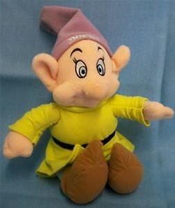 """白雪姫Disney Snow White and the Seven Dwarfs Dopey Plush Soft 6"""" Doll Toy"""
