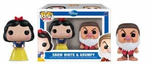 白雪姫Funko Mini Pop Figures - Snow White and Grumpy